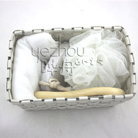 Eco Bath&Shower Gift Set in White Basket