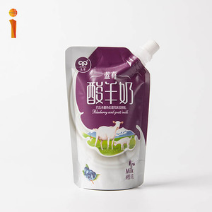 Food grade custom stand up milk packets with spout lamination drink pouches
