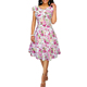 European clothing wholesale women ladies a line midi plus size summer floral dresses