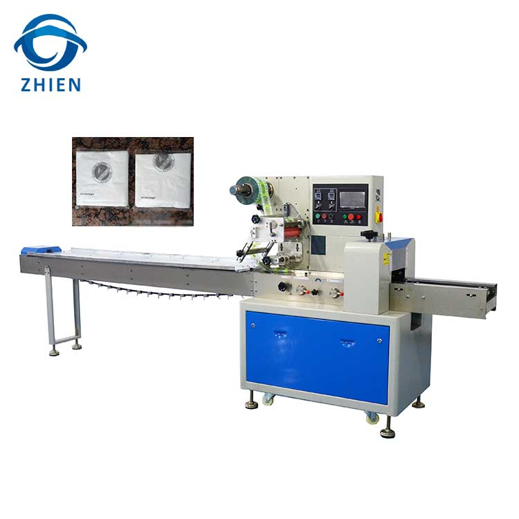 ZE-250D wet tissue/hygienic towelette/napkin packing machine