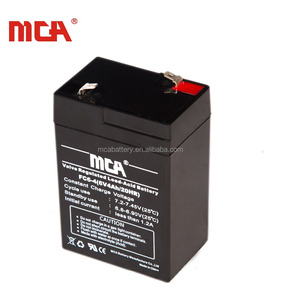 Hot sale street light ups 6v 4ah rechargeable lead acid battery
