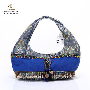 Elegant vintage indian style clutch bag lady sexy handbags royalblue bags