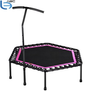Custom made trampolines with handle jumping mini trampoline for fitness