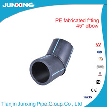 HDPE fabricated fittings/ pe water pipe 45 elbow