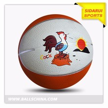 Cheap school mini size rubber material brand logo custom print basketball