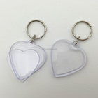 Heart Shaped Custom Insert Logo Promotional Acrylic Plastic Key Holder