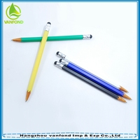 New Style Pencil Shaped Funny Stylus Ball Pen Wholesale