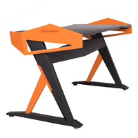 Ergonomic computer gaming desk /e-sports racing table with fighting LED lighting