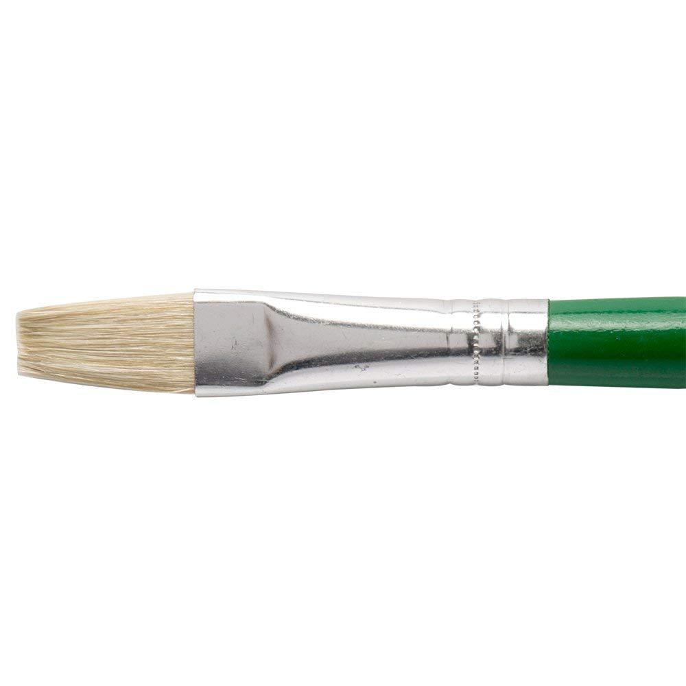 JAS : Childrens Short Handle Brush : Flat Green no.10