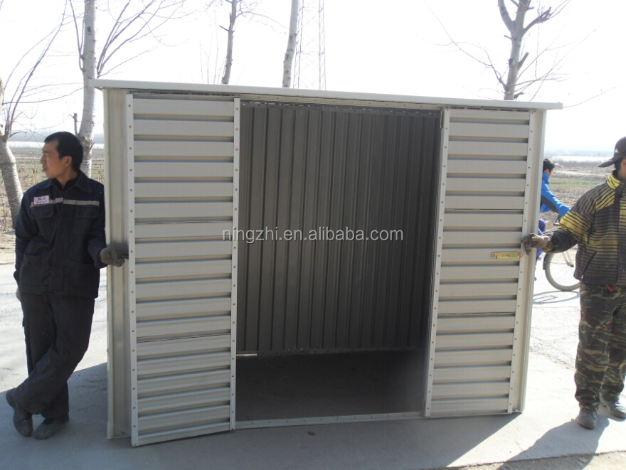 Mobile Portable Shed With Roller Door For Motorcycle Storage Garage Motorbike