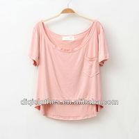 Tall waist short T-shirt plus size women clothing