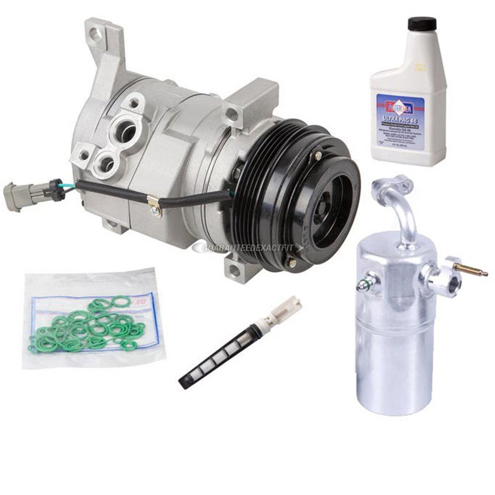 New AC Compressor & Clutch With Complete A/C Repair Kit For GM Truck SUV - BuyAutoParts 60-80170RK New