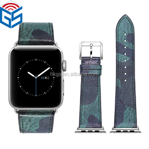 OEM Order Latest Arrival Camouflage Color For Apple Watch Series 4 3 2 1 Leather Band Strap