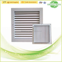 Air Conditioner Parts External Wall Decoration Exhaust Air Grille Ventilator with Filter