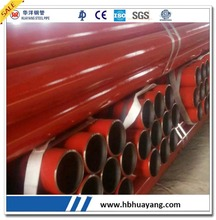 "Red and Black Steel Pipe line ERW 3"" 4"" 2"" 6"" tube"