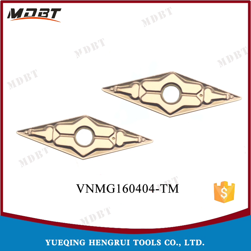 CNC Lathe Cutting Tools VNMG160404-TM Tungsten Carbide Inserts For Processing Steel Material