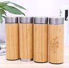 Stainless Steel coffee bamboo cup mug double wall insulated vacuum flask