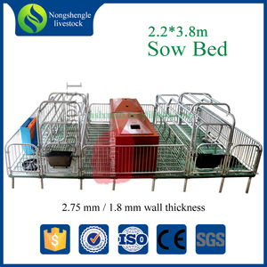 Quality assurance pig galvanized stall farrowing sow cages