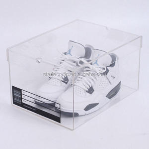 Clear Container Store, Clear Shoe Boxes, Acrylic Sneaker Box with Lid