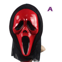 Adult deluxe carnival halloween party PVC scary ugly sream ghost devil face mask