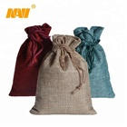cheap custom cosmetic gifts pouch colorful jute drawstring bag