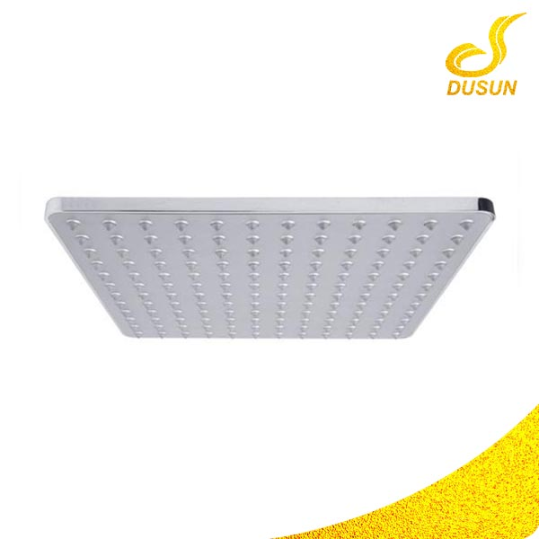 Ceiling top sanitary ware chrome fixed big square shower head