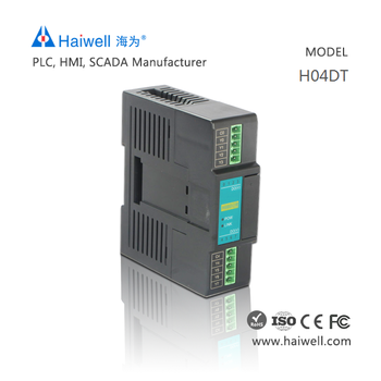 Haiwell H04DT PLC controller expansion for DS18B20 temperature control