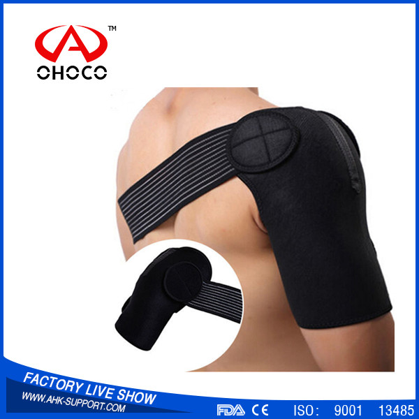 Men neoprene heated shoulder brace medical shoulder pad