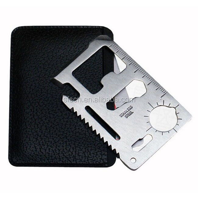 Stainless Steel Outdoor Multifunction Tool Set Pocket Survival Card