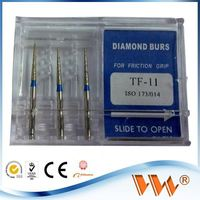 ISO aluminum dental bur holder 3 pieces in a pack