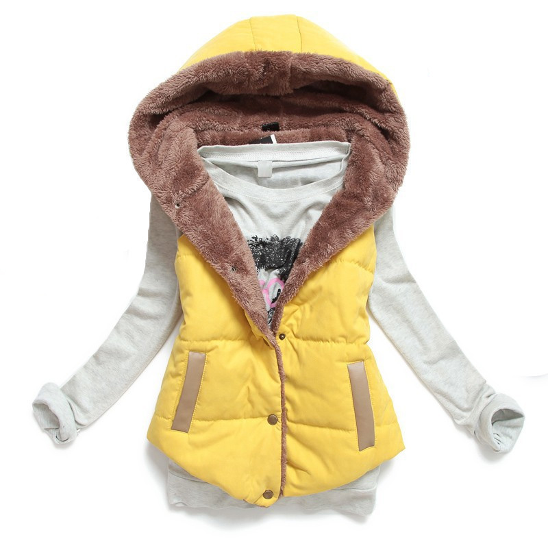 4b25a4b7213 Buy Plus Size XXXL Quilted Vest Autumn Winter Slim Thermal Cotton Hooded  Colete Feminino Casual Duck Down Vest Women Quilted Coats in Cheap Price on  ...
