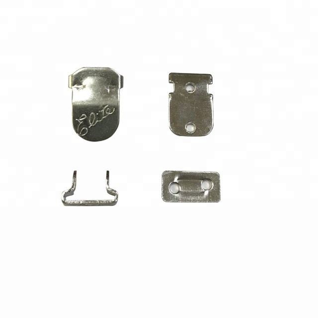 solid metal trouser hook and bar button with custom oem design