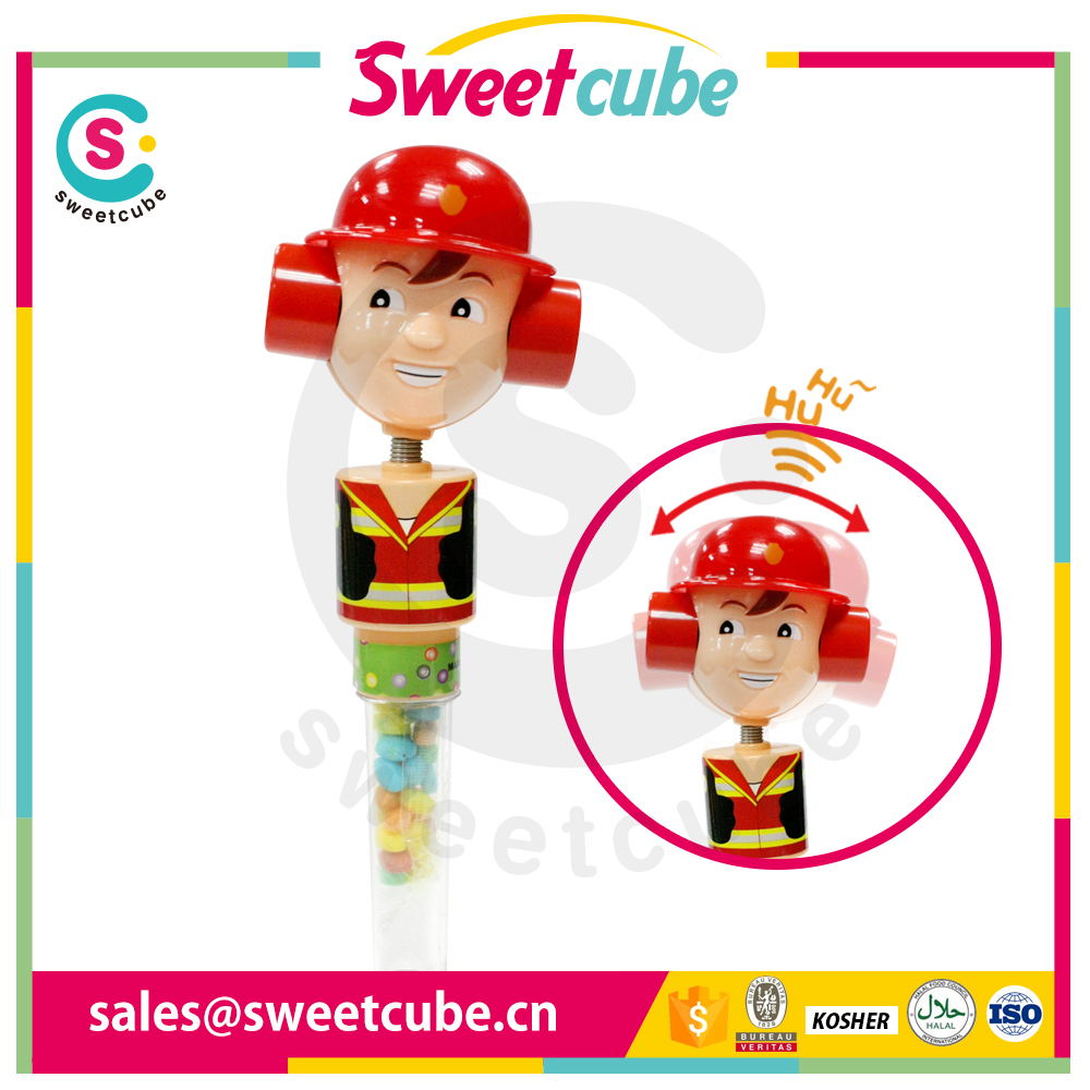 New Arrival Headshaked giggle Candy Toys with tube