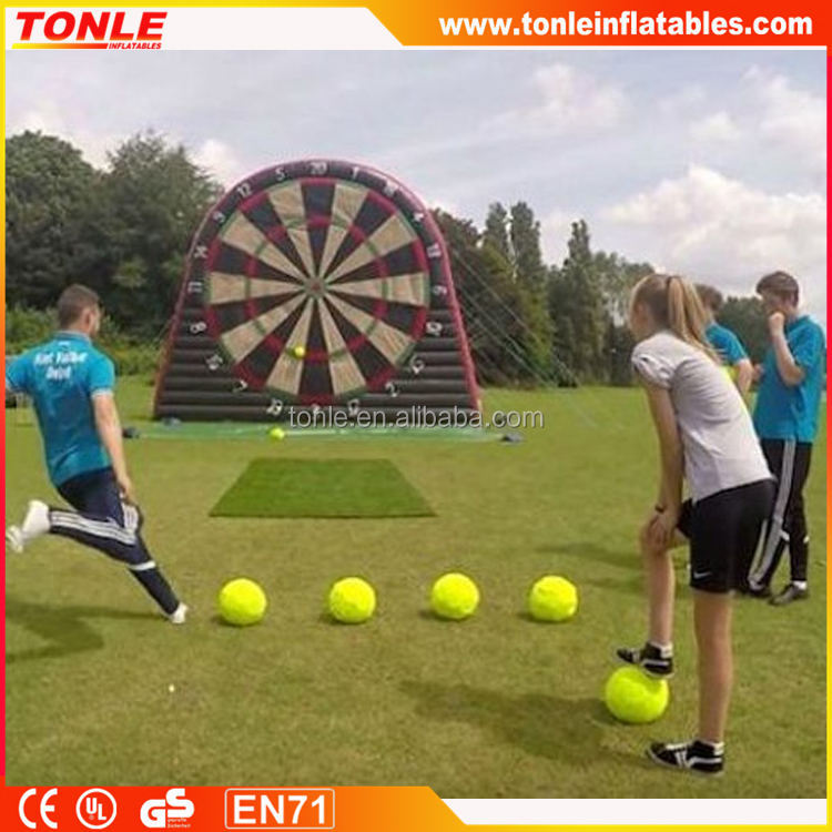 funny large inflatable soccer dart game/ inflatable football darts for sale