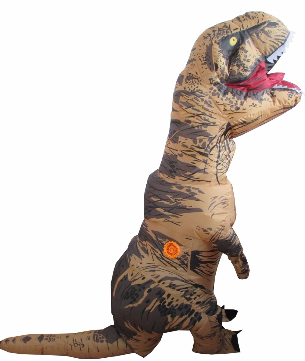 Shop for dinosaur costumes that take you to the top of the food chain. Outfits include T-Rex inflatables, ride-on costumes, and toddler jumpsuits.