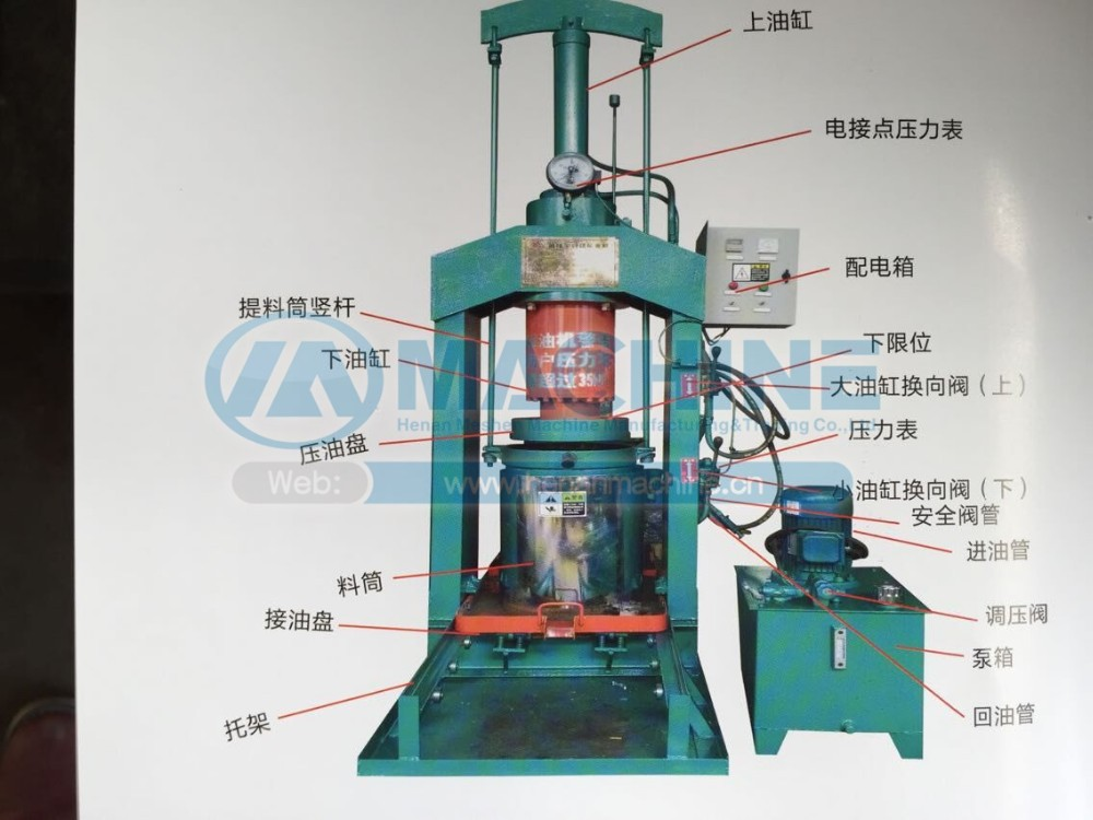 Manufacturer Standard sunflower olive coconut small cold oil press machine
