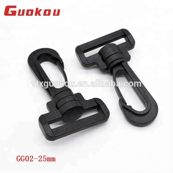 38MM big plastic spring snap hook buckles for dog collar