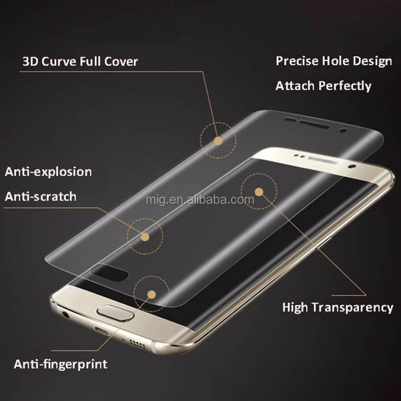 2016 HD Clear Soft PET Full Cover Screen Film Protector For Samsung Galaxy S7 Edge phone accessory