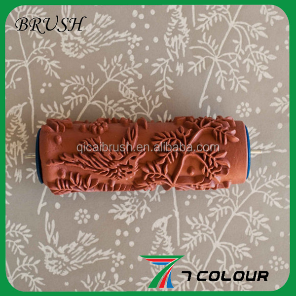 texture paint roller brush,paint roller tools,rubber pattern roller covers