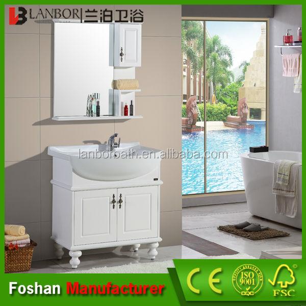nueva llegada europea barato blanco de madera maciza muebles de bao ck009