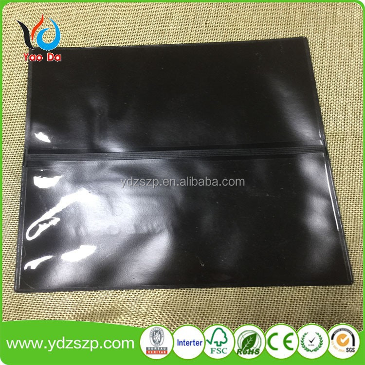 colorful reusable plastic book slipcover PVC Black Book Cover