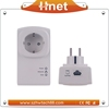 500M Pass Through PLC Homeplug AV Powerline Network Adapter For camera security system