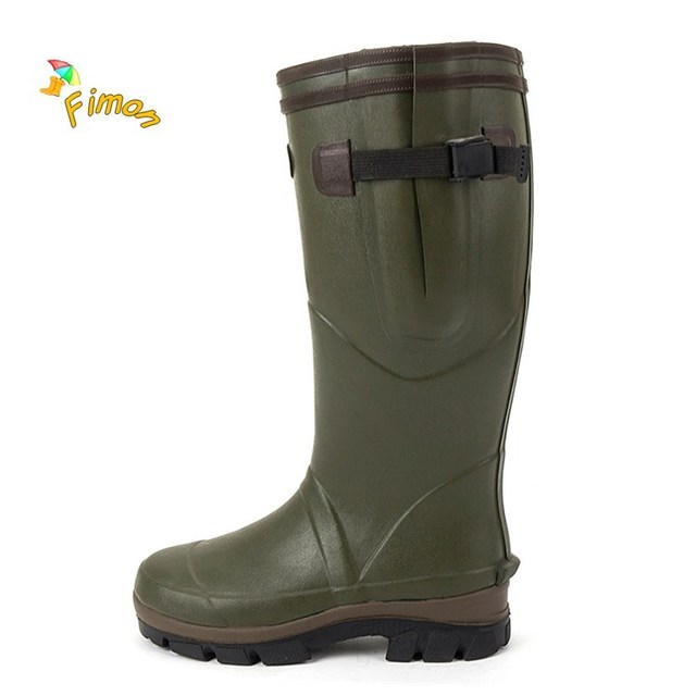 a20c11d8d869 High quality long stable rubber rain boots for men