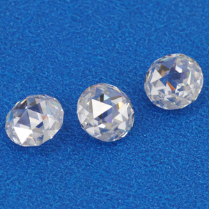 Video available rose cut pure white color beads moissanite diamond for high end jewellery making