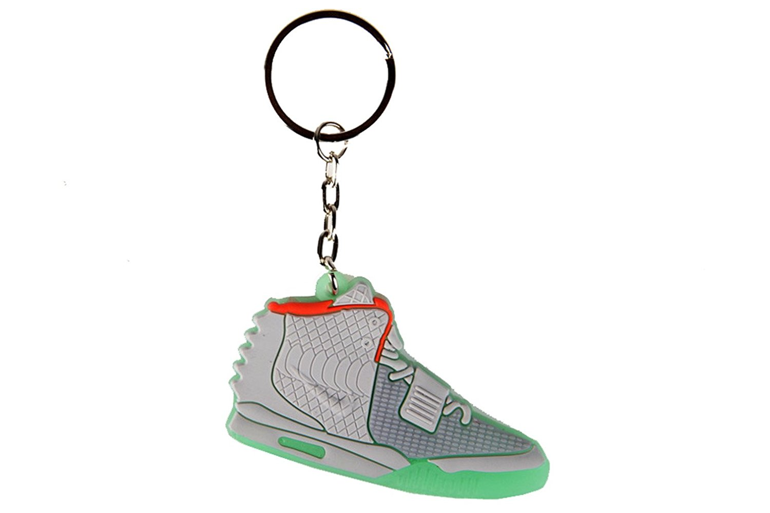 82f10f24d Get Quotations · Yeezy 2 II Red October Pure Platinum Sneaker Solar Red AJ  23 Keychain Keyring