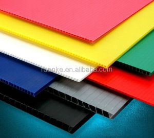 Factory 2-12mm Custom White PP Corrugated Plastic Corflute Sheet / Hollow Board