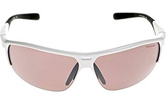 Smoke with Super Silver Flash Lens One Size Nike EV0799-106 Run X2 R Sunglasses White//Hyper Crimson