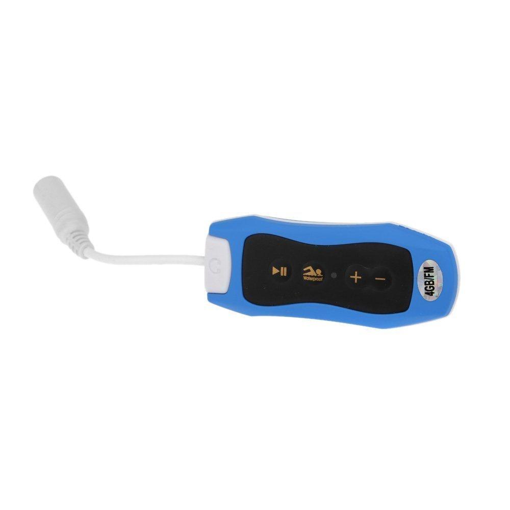 TOOGOO(R) 4GB IPX6 Sport Waterproof MP3 Player FM Radio for Swimming/ Running Underwater Jogging/ SPA+ Waterproof Earhook Headset Earphone