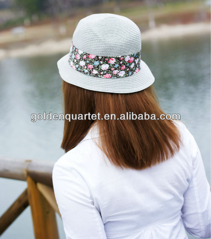 Ladies knit straw hat/pretty straw cap(SA8000, BSCI, ICTI factory)