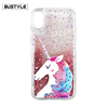 Hot Selling Custom Printing Colorful Liquid Stars Bling Glitter Silicone Case for iPhone 8 Cover